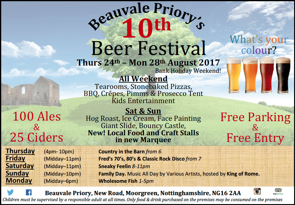 10th Beer Festival- 24th to 28th August 2017